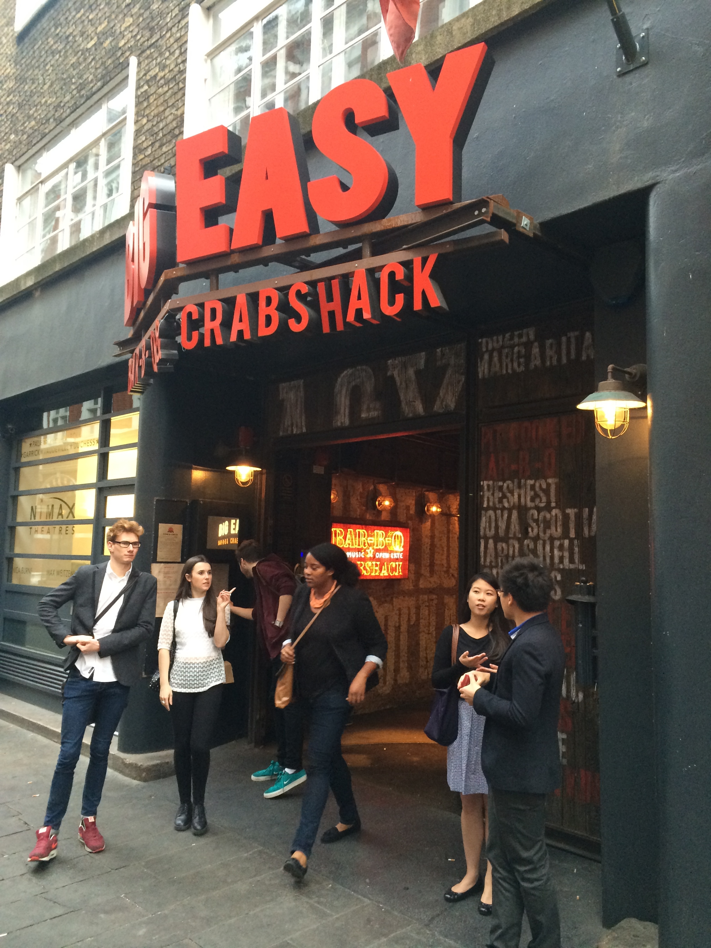 Big Easy Restaurant Covent Garden