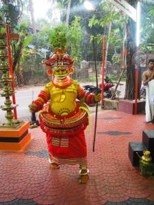 Theyyam dancing