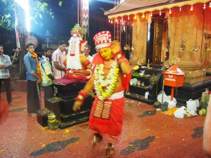 Theyyam dancing